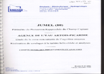 JUMEL (80): PERIMETRE DE PROTECTION RAPPROCHEE DU CHAMP CAPTANT: AGENCE DE L'EAU ARTOIS PICARDIE: ETUDE DE LA ZONE NON SATUREE DE L'AQUIFER- E CRAYEUX: REALISATION DE SONDAGES A LA TARIERE HELICOIDALE ET ANALYSES: COMPTE RENDU DES PRELEVEMENT...