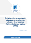 Evolution des surplus azotés et des concentrations en nitrates dans les aires d'alimentation de captage (AAC)