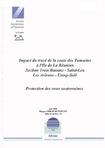Impact du tracé de la route des Tamarins à l'Ile de la Réunion. Section Trois Bassins- Saint-Leu- Les Avirons- Etang-Salé. Protection des eaux souterraines.