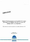"""Impact d'aménagements sur la qualité de la nappe phréatique de LORIOL (Drôme) dans le secteur du captage AEP """"La Négociale""""."""