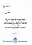 Avis relatif aux risques entrainés par les aménagements routiers de la R.N.106 Boucoiran-Nîmes vis à vis du captage destiné à la consommation humaine de la commune de Sauzet (30).