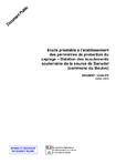Etude préalable à l'établissement des périmètres de protection du captage. Datation des écoulements souterrains de la source de Banudel (commune du Boulve).