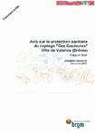 """Avis sur la protection sanitaire du captage """"Des Couleures"""". Ville de Valence (Drôme). Rapport final."""
