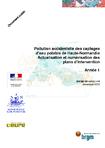 Pollution accidentelle des captages d'eau potable de Haute-Normandie. Actualisation et numérisation des plans d'intervention. Année 1.
