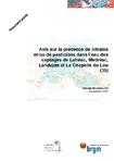 Avis sur la présence de nitrates et/ou de pesticides dans l'eau des captages de Lohéac, Médréac, Landujan et La-Chapelle-du-Lou (35).
