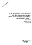 Etude d'exposition des captages et des îlets habités du bras de la plaine (zone amont) et propositions de solutions- phase 1. Rapport final.