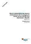 Etude des bassins d'alimentation des 4 captages du bassin versant du Mro Oua Andrianabé- Mayotte. Rapport final.