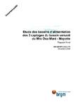 Etude des bassins d'alimentation des 3 captages du bassin versant du Mro Oua Marè- Mayotte. Rapport final.