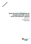 Etude du bassin d'alimentation du captage de Mrowalé- bassin versant de la Mrowalé- Mayotte. Rapport final.