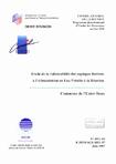 PROGRAMME DEPARTEMENTAL D'ETUDE DES RESSOURCES EN EAU 1995.- Etude de la vulnérabilité des captages destinés à l'alimentation en eau potable à la Réunion. Commune de l'Entre-Deux.