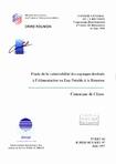 PROGRAMME DEPARTEMENTAL D'ETUDE DES RESSOURCES EN EAU 1995.- Etude de la vulnérabilité des captages destinés à l'alimentation en eau potable à la Réunion. Commune de Cilaos.