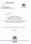 """Banque de données """"Qualité des eaux souterraines"""" du bassin Seine-Normandie. Actualisation 1998 du fichier de captage d'alimentation en eau potable du département de l'Yonne."""