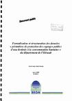"""Formalisation et structuration des données """"périmètres de protection des captages publics d'eau destinée à la consommation humaine"""" du département de l'Hérault."""