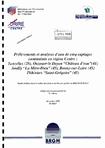 """Prélèvements et analyses d'eau de cinq captages contaminés en région Centre: Ecluzelles (Eure-et-Loir), Ouzouer-le-Doyen """"Château d'eau"""" (Loir-et-Cher), Amilly """"La-Mère-Dieu"""", Bonny-sur-Loire, Pithiviers """"Saint-Grégoire&q..."""