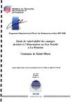 Etude de vulnérabilité des captages destinés à l'Alimentation en Eau Potable à la Réunion. Commune de Sainte-Marie.