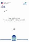 Nappe de la Savoureuse- Analyse des rapports d'études sur le fonctionnement de la nappe au voisinage du Champ captant de Sermamagny.