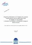 Enquête préliminaire sur l'origine des produits organochlorés trouvés dans deux puits de captage en eau potable (Mézières-en Drouais et Ecluzelles-Charpont, Eure-et-Loir).