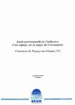 Etude prévisionnelle de l'influence d'un captage sur la nappe du Cénomanien. Commune de Parcay-sur-Vienne (37).