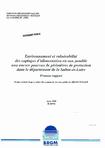 Environnement et vulnérabilité des captages d'alimentation en eau potable non encore pourvus de périmètres de protection dans le département de la Saône-et-Loire. Premier rapport.